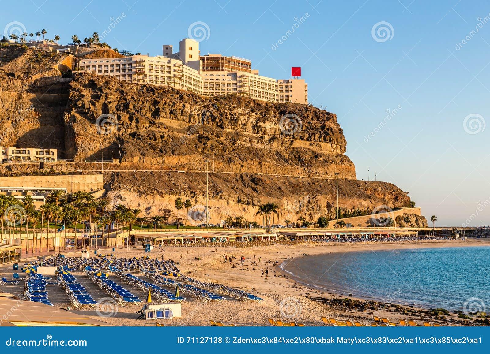 amadores strand puerto rico gran canaria spanien stockfoto bild 71127138. Black Bedroom Furniture Sets. Home Design Ideas