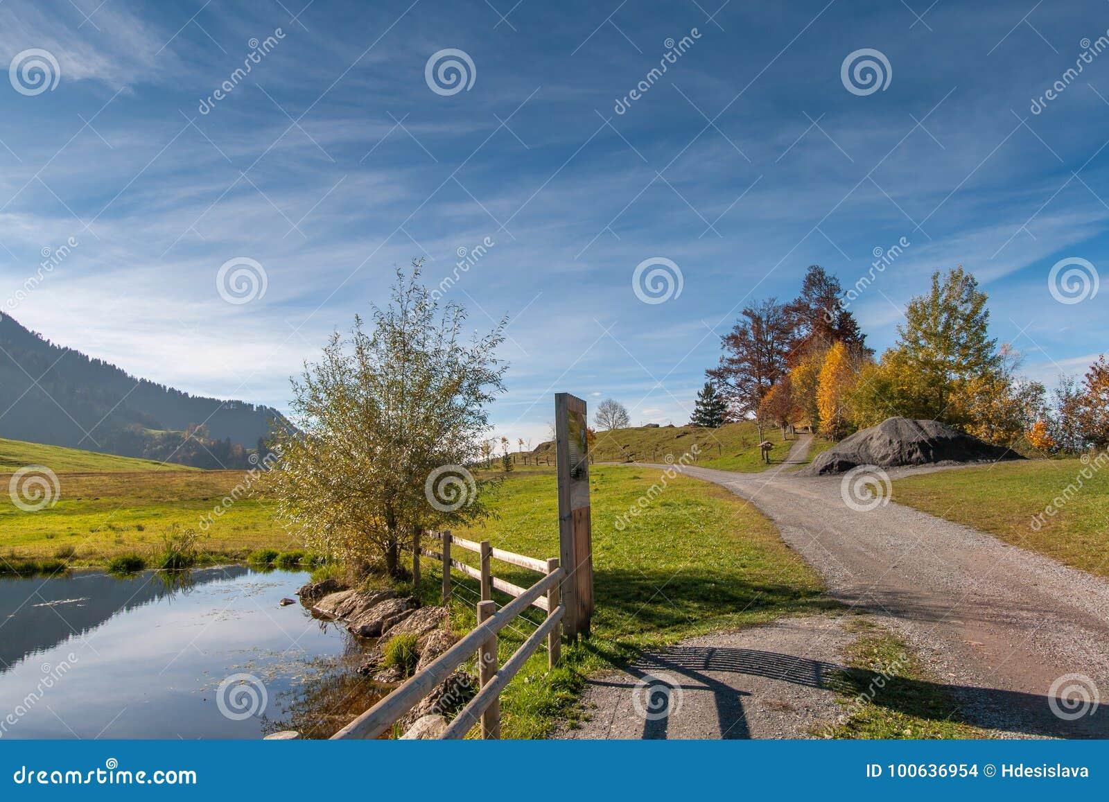 Amaing Autumn Landscape Near Mount Rigi And Lake Luzerne