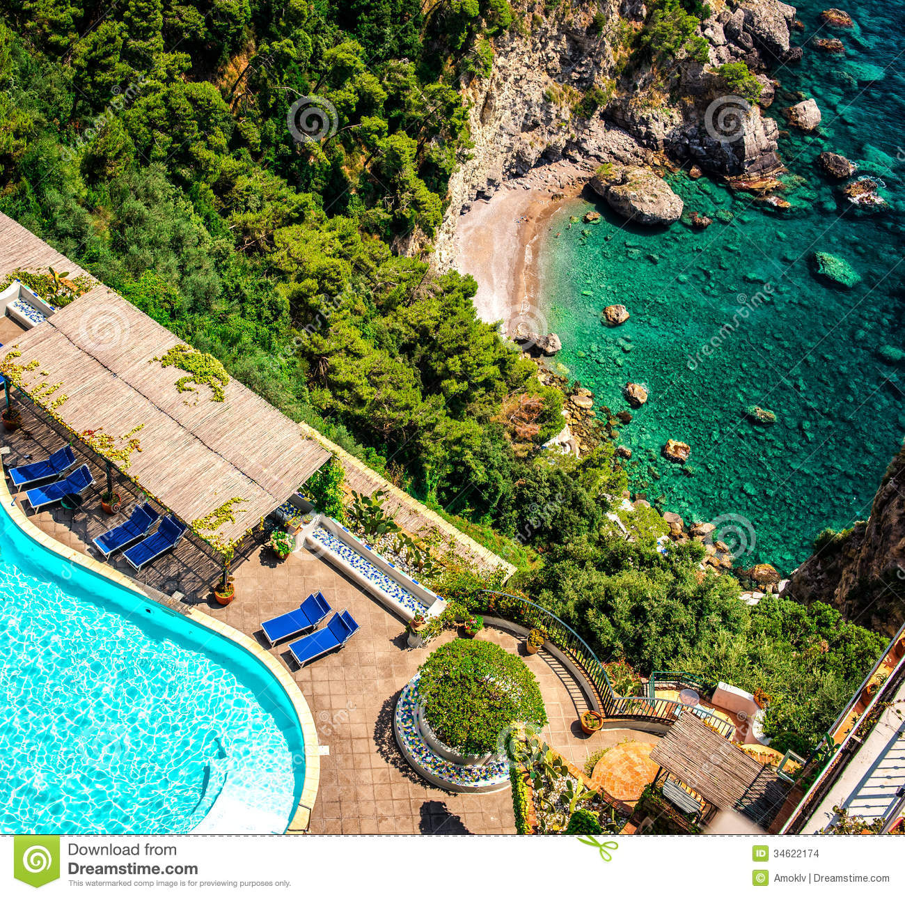 amalfi coast. italy stock images - image: 34622174