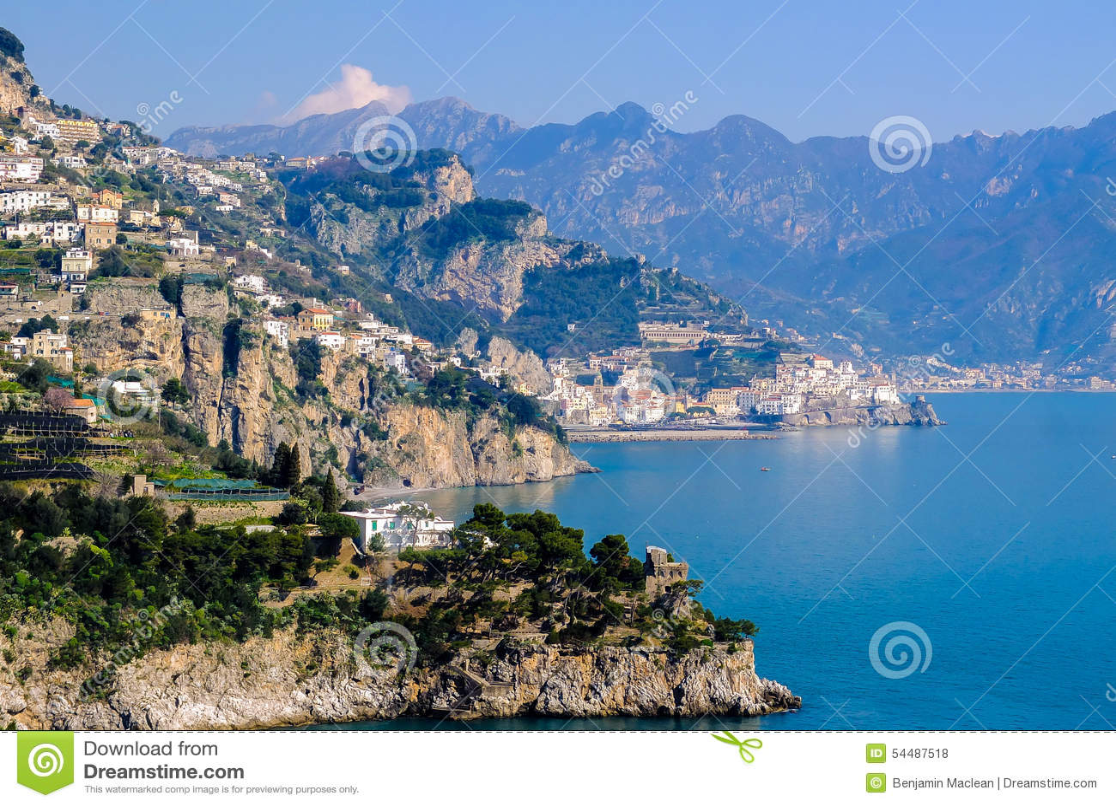 Amalfi kust italy