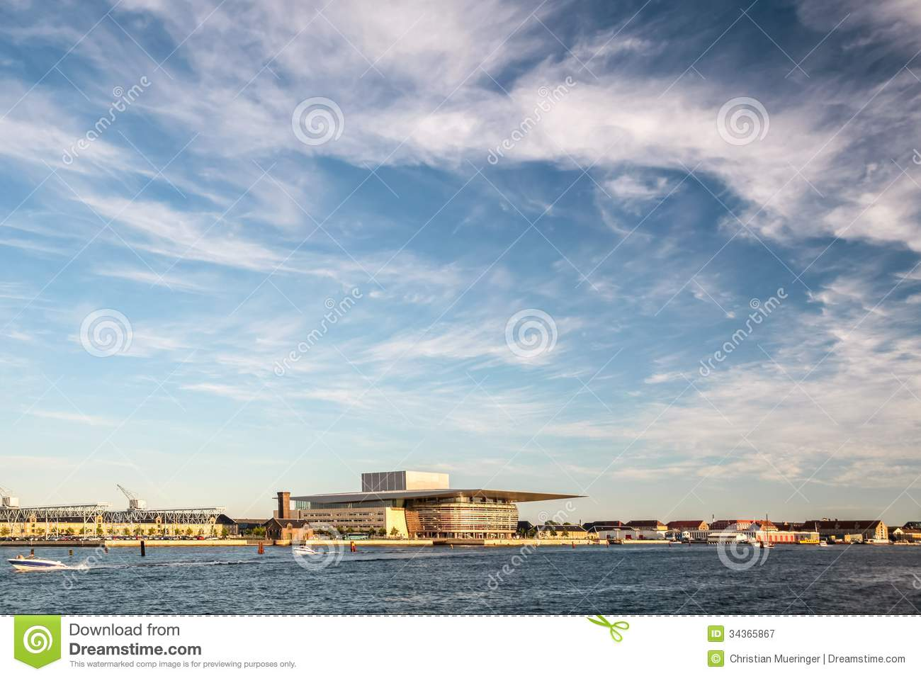 amaliehaven and new opera in copenhagen royalty free stock photography image 34365867. Black Bedroom Furniture Sets. Home Design Ideas