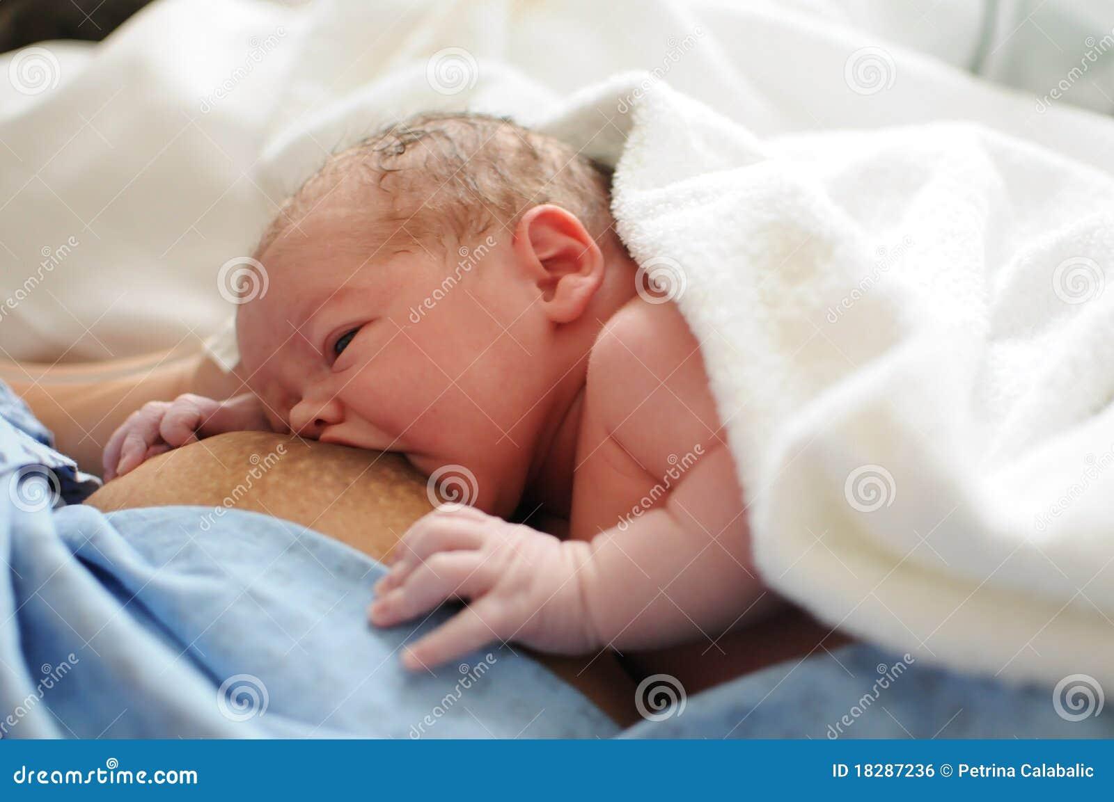Amamantamiento de un recién nacido