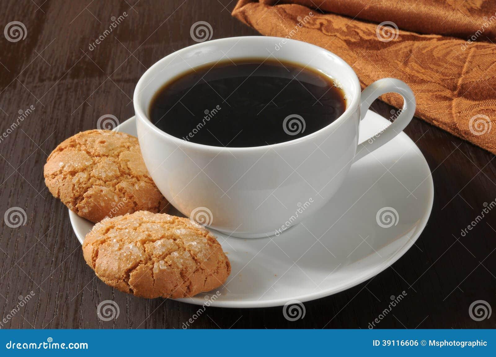 Amandelkoekjes en koffie