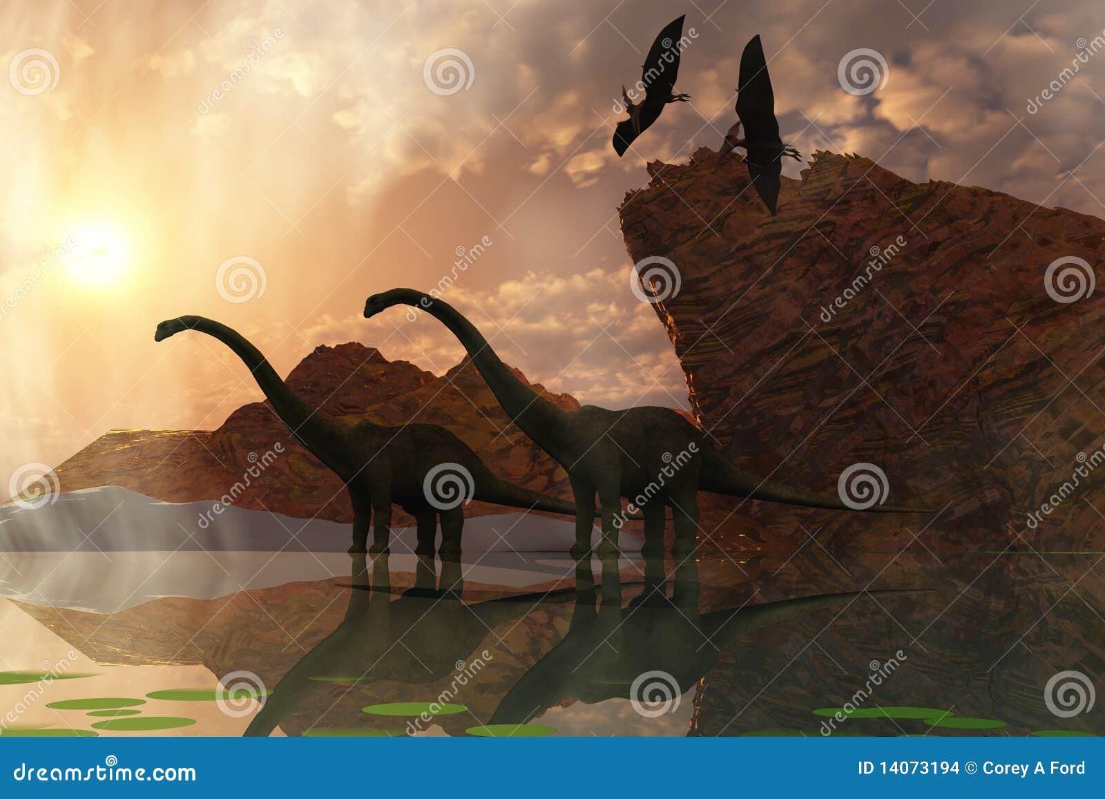 Amanecer del dinosaurio
