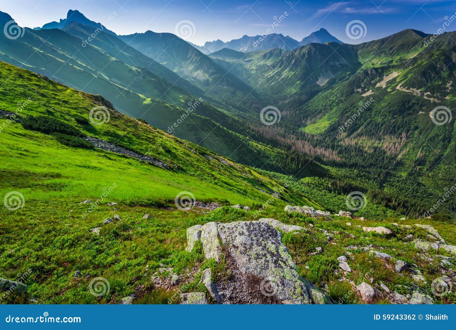 Amanecer maravilloso en las montañas