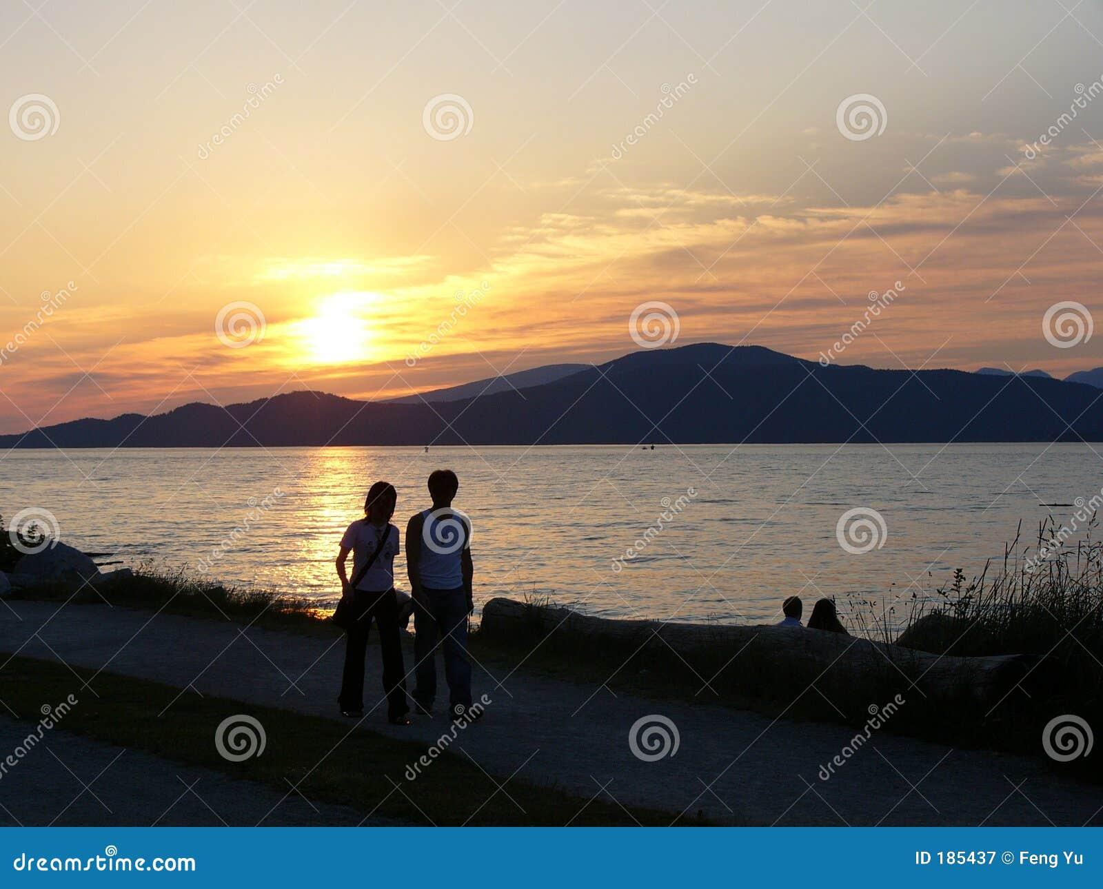 Amante, puesta del sol