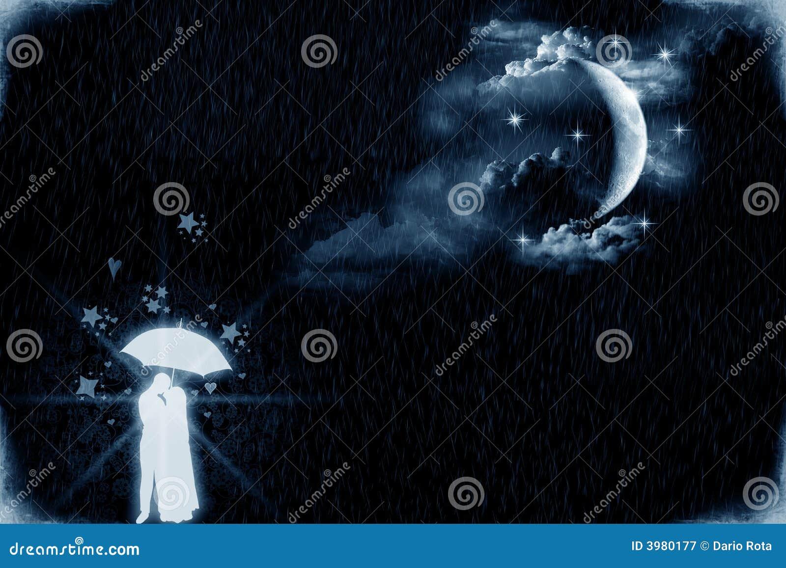 Amantes por el claro de luna