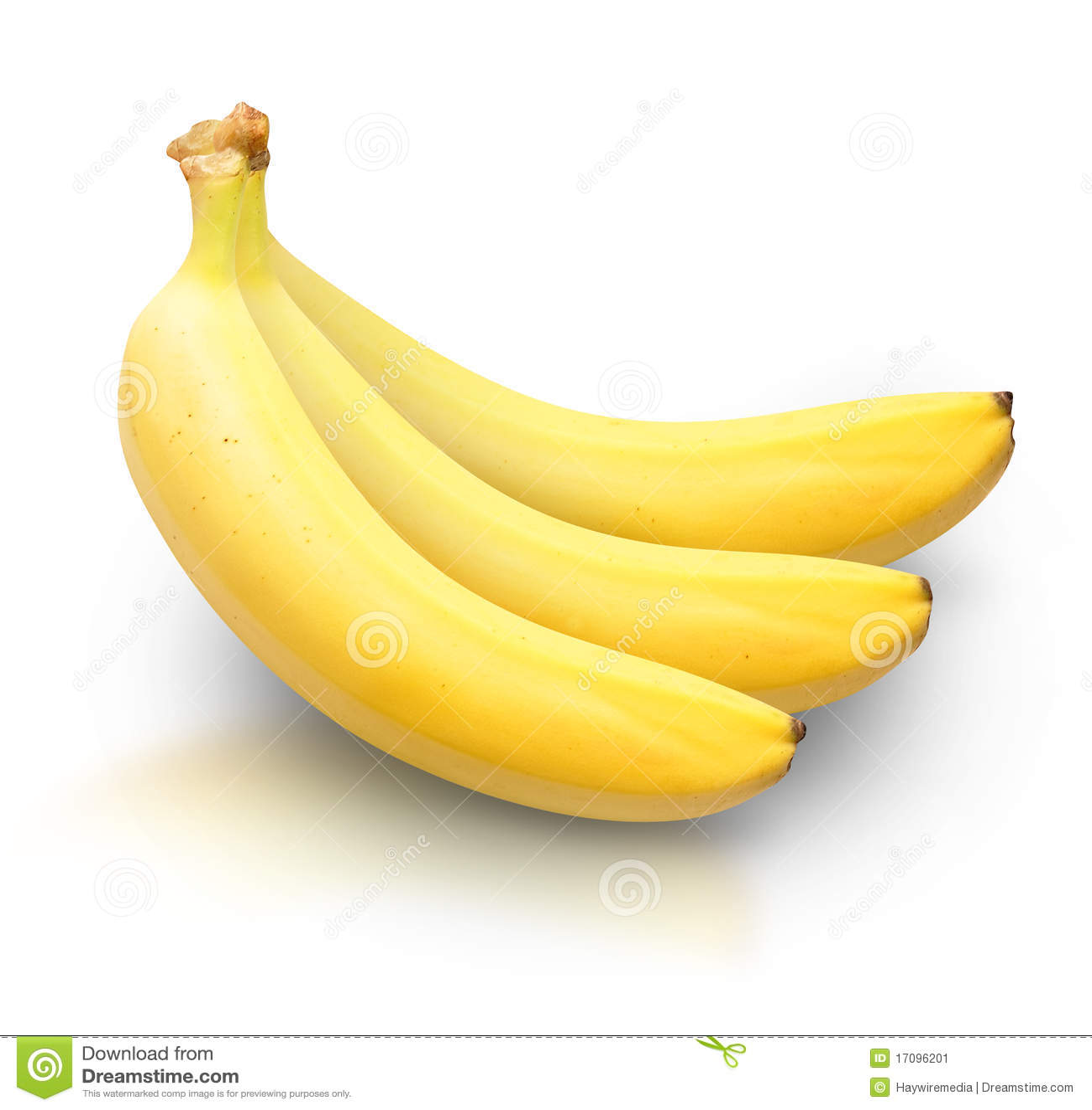 Amarele bananas no fundo branco
