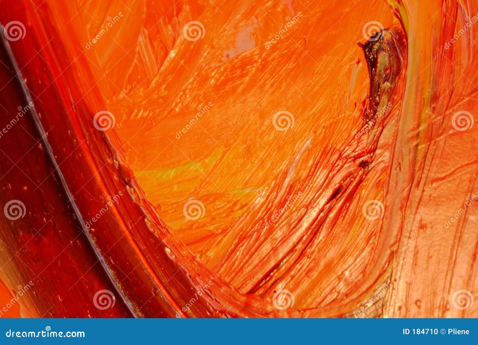 Amarillo anaranjado rojo de Oilpainting