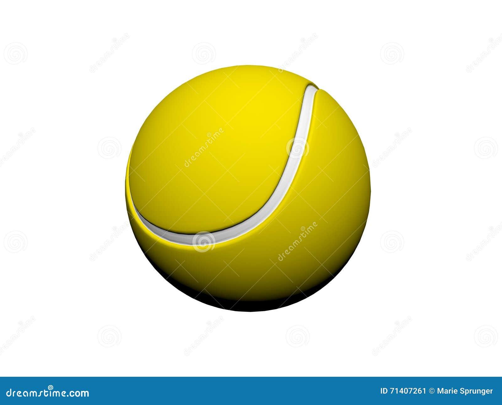 Tenis pelota stock de ilustracion ilustracion libre de stock de - Amarillo De La Pelota De Tenis 3d Rinden