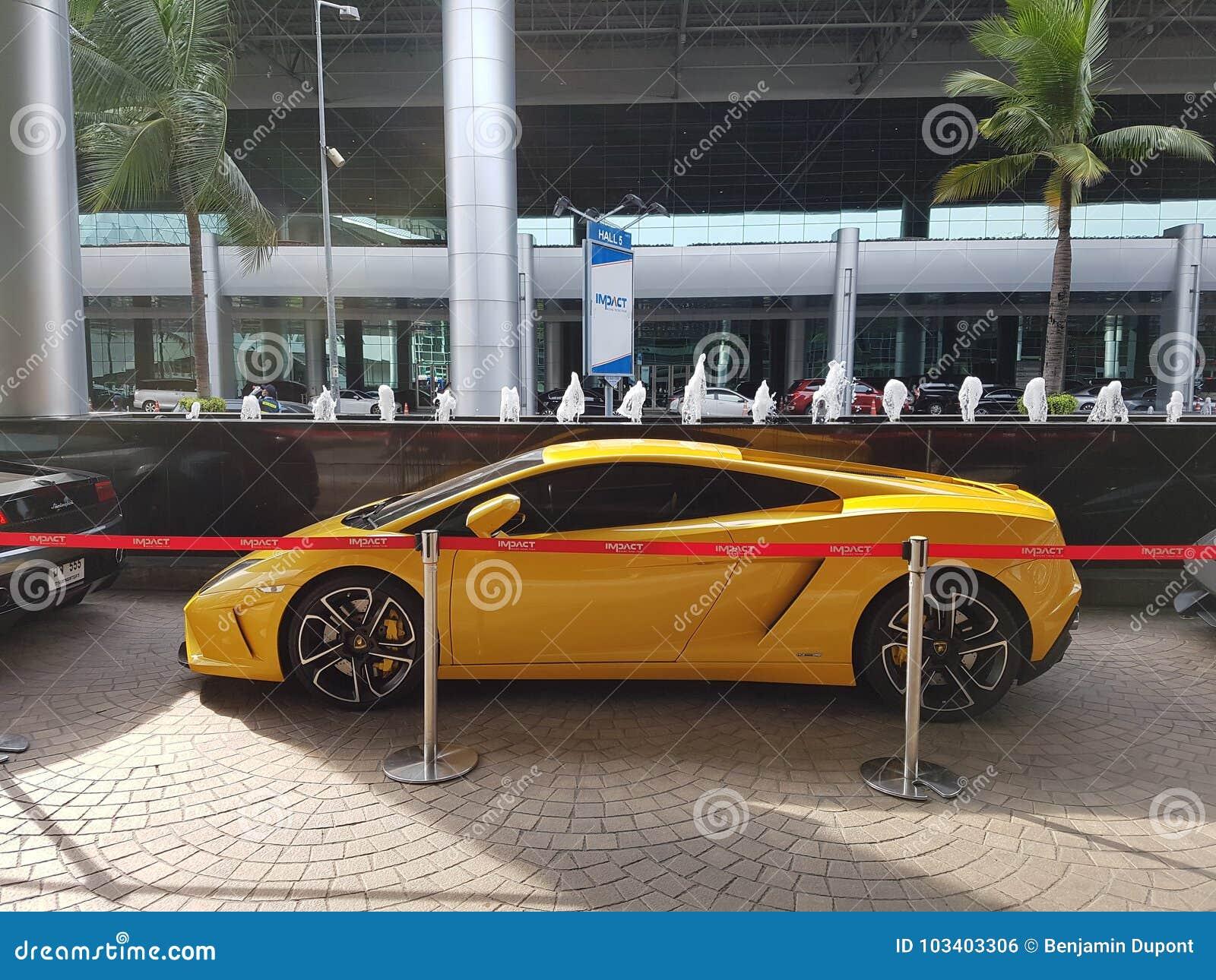 Amarillo Del Cupe De Lamborghini Gallardo Squadra Corse Foto