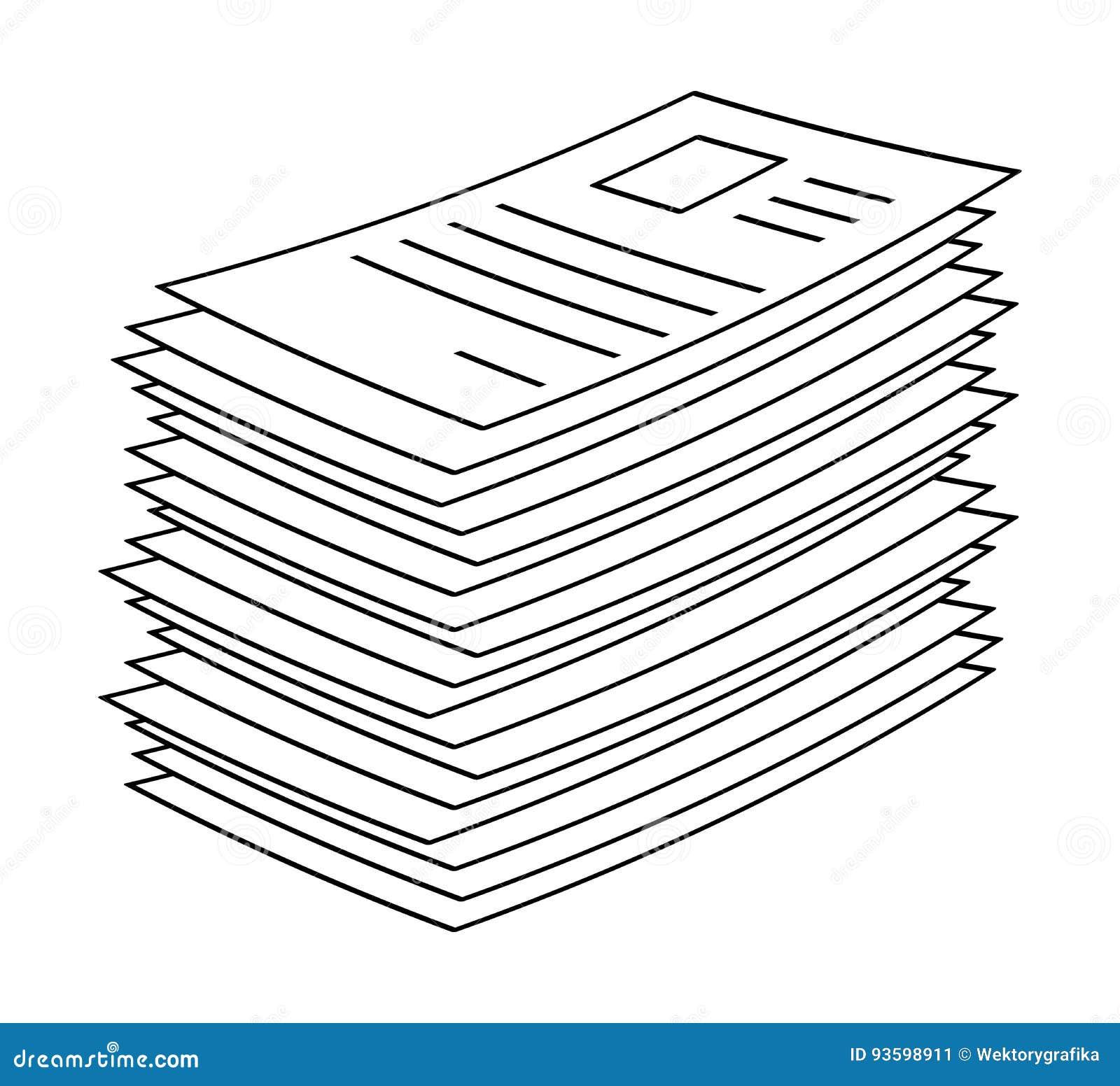 Amassez, pile de l icône de papier d de symbole de vecteur d icône de Web de fichier document
