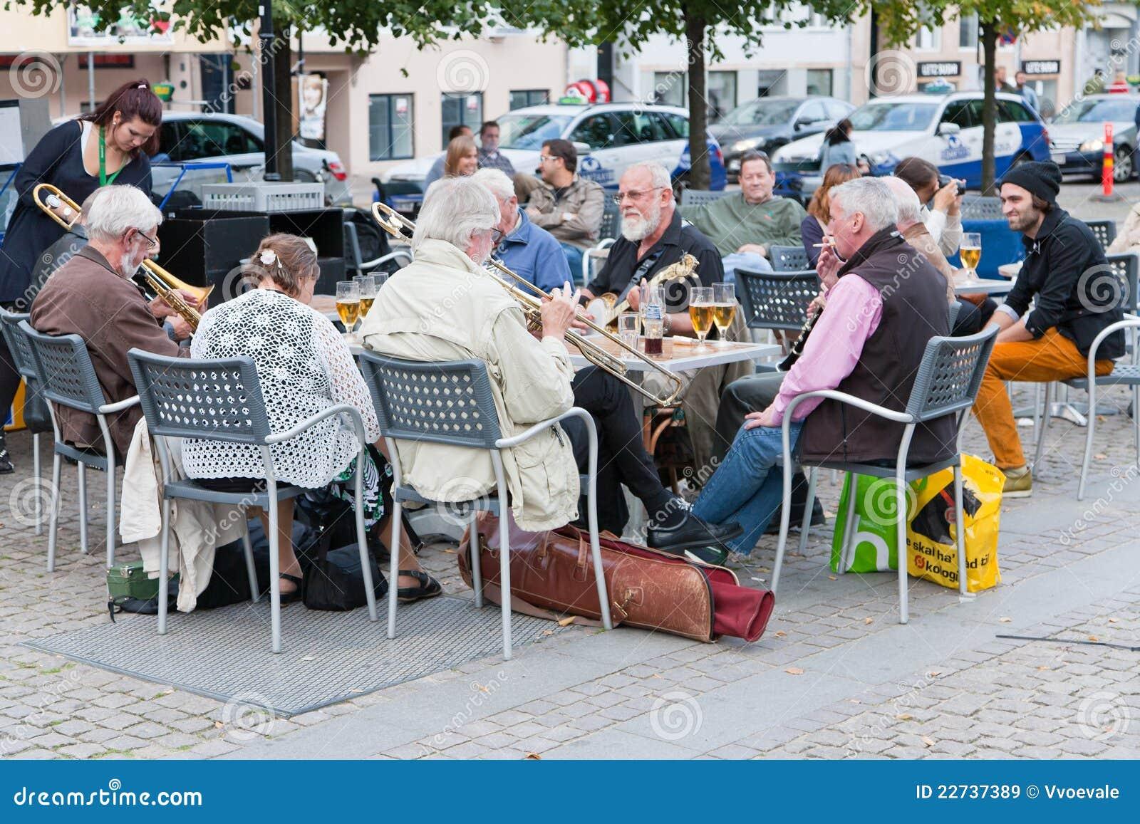 Amatorska zespołu Copenhagen jazzu restauracja