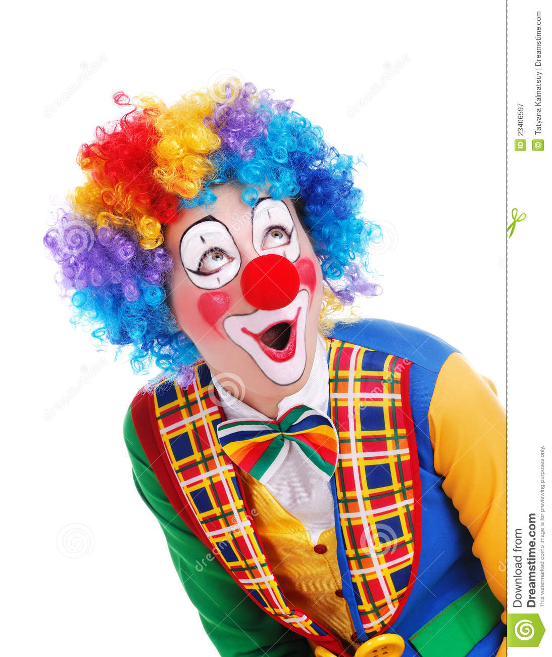 Amazed Clown Royalty Free Stock Photography - Image: 23406597