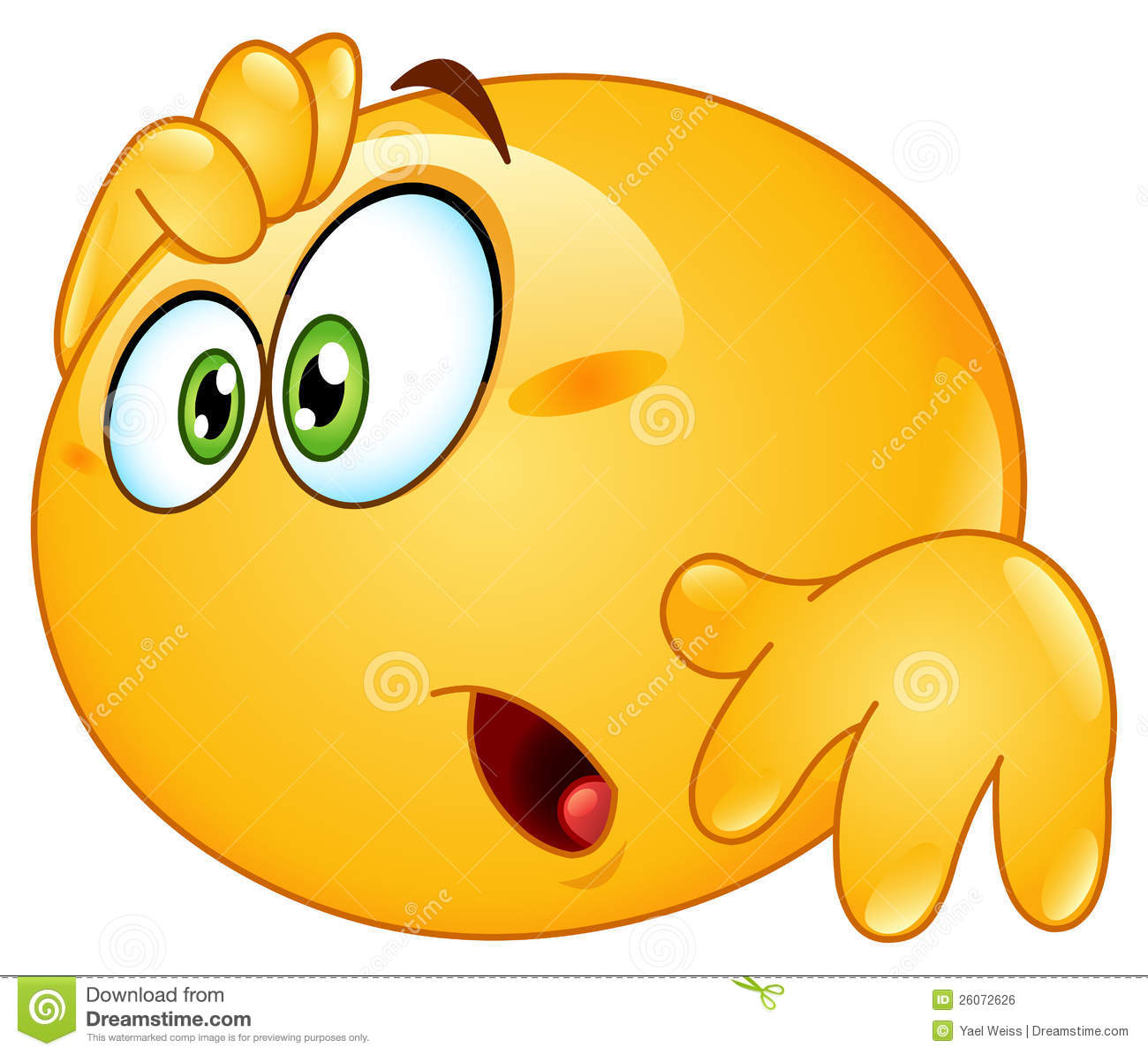 Amazed Emoticon Stock Vector Image Of Hand Eyes Chat