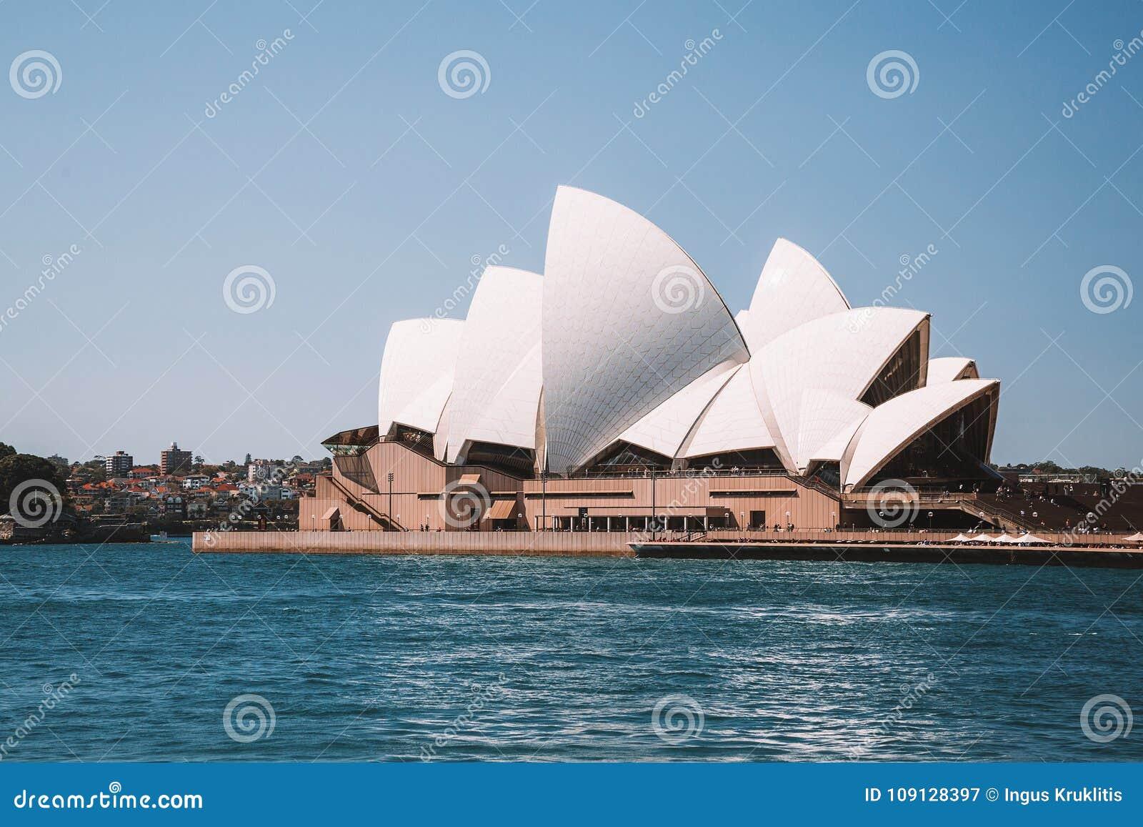 amazing aerial view sydney opera house city above harbour bridge ant april australia 109128397 - Get Satellite Image Of Sydney Opera House  Pictures