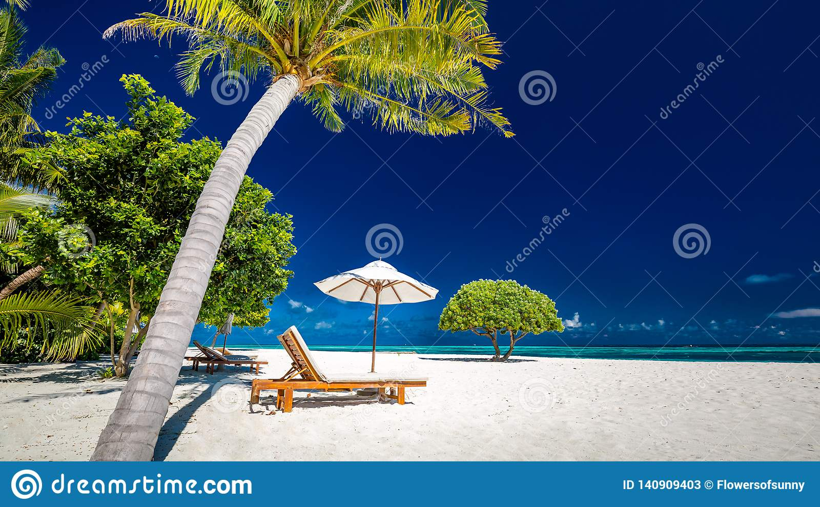 Amazing beach panorama. Tropical holiday landscape banner