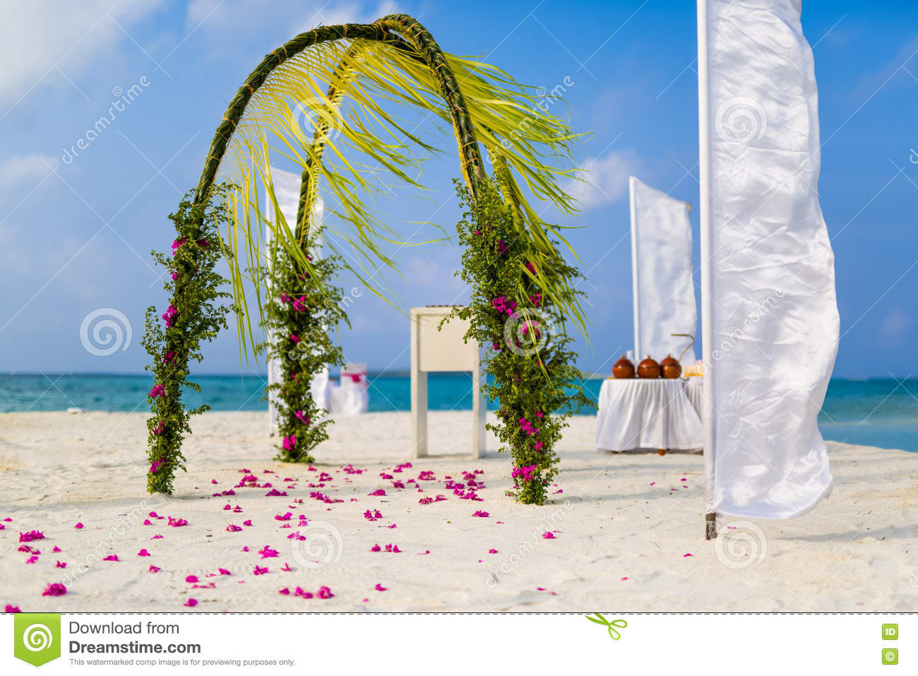 Royalty Free Stock Photo Download Amazing Beach Wedding Venue In Maldives