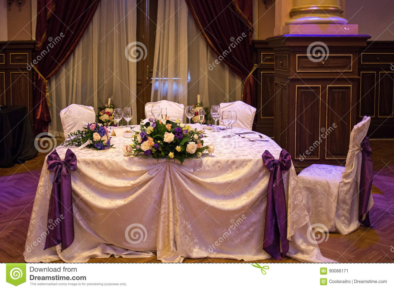 Amazing Bride And Groom Table Stock Illustration Illustration Of