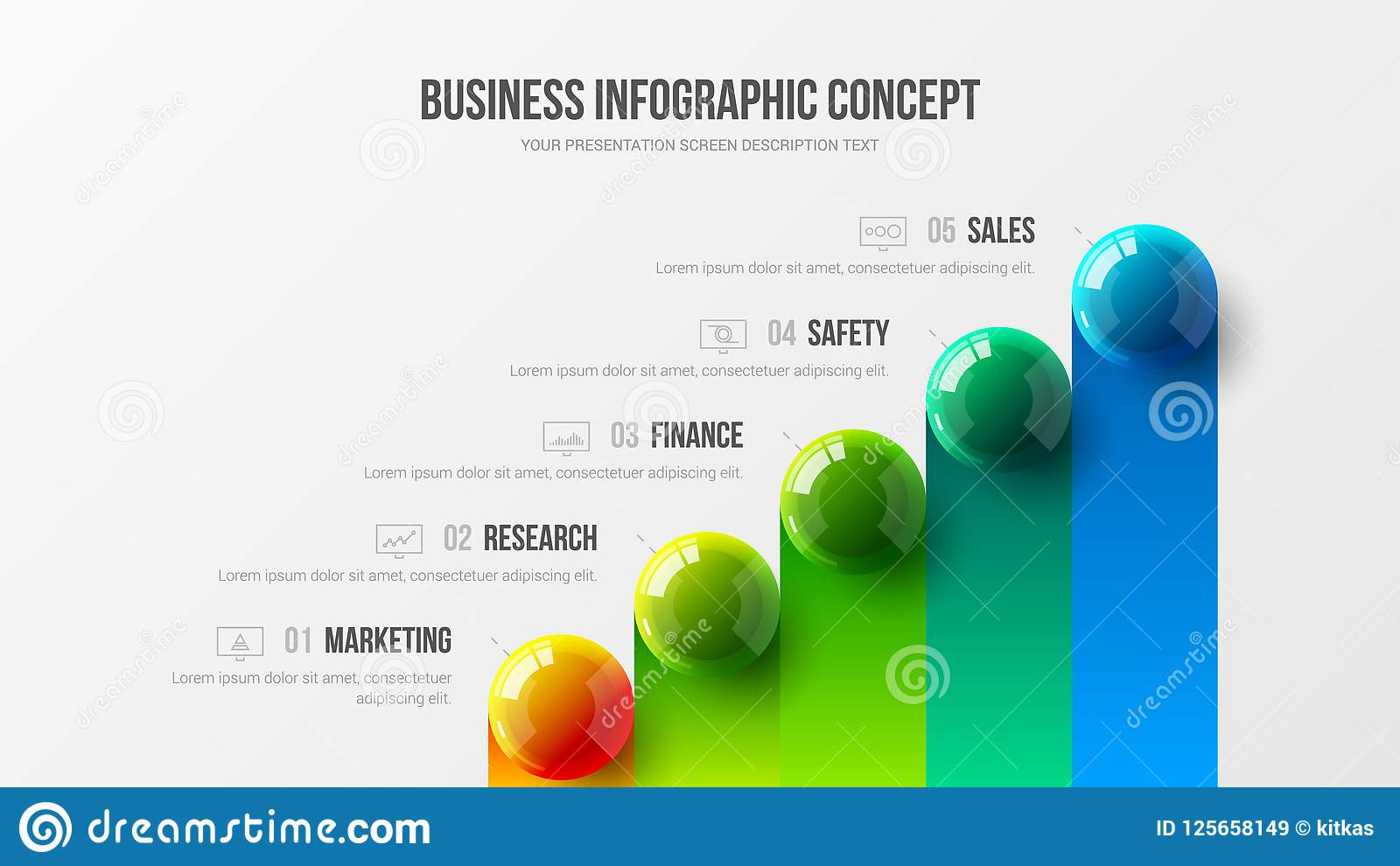 Amazing business infographic presentation vector illustration concept. Corporate marketing analytics data report creative design l