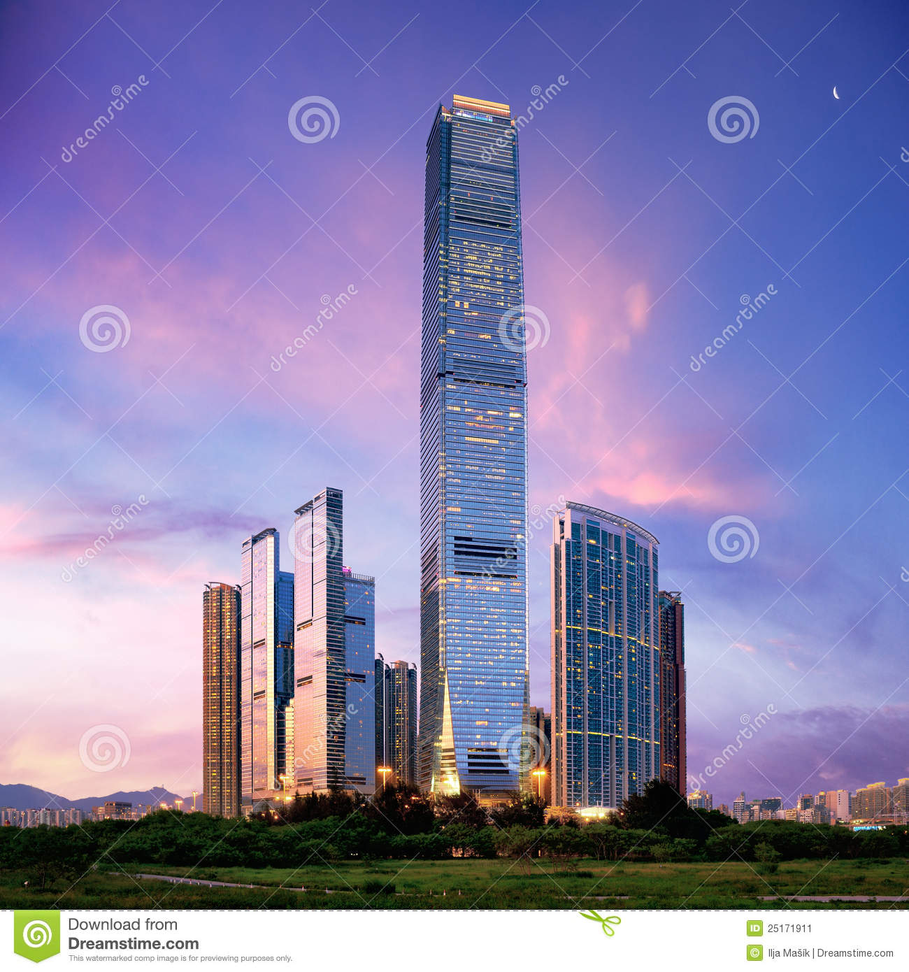 Amazing Hong Kong: Amazing Cityscape Of HongKong Stock Image