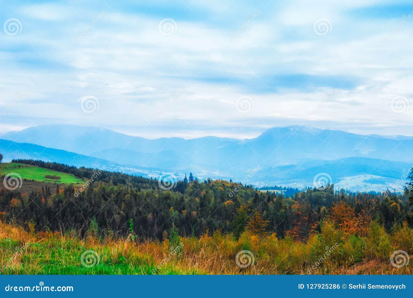 Amazing color of autumn iin the Ukrainian mountins