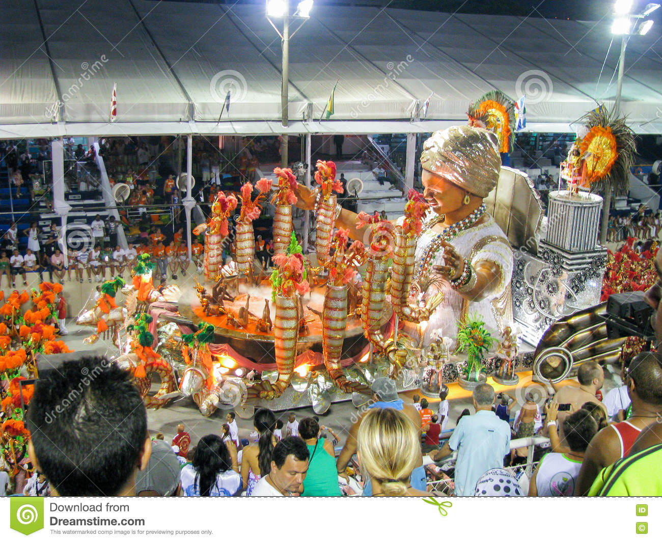 Amazing extravaganza during the annual Carnival in Rio de Janeiro