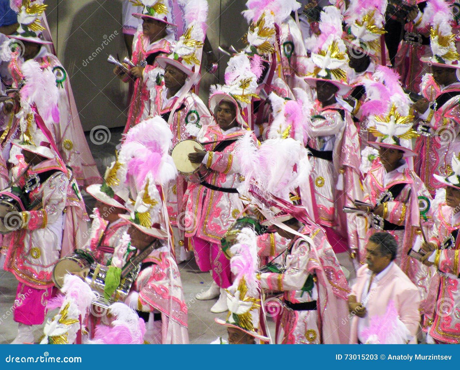 Amazing extravaganza during the annual Carnival in Rio de Janeiro
