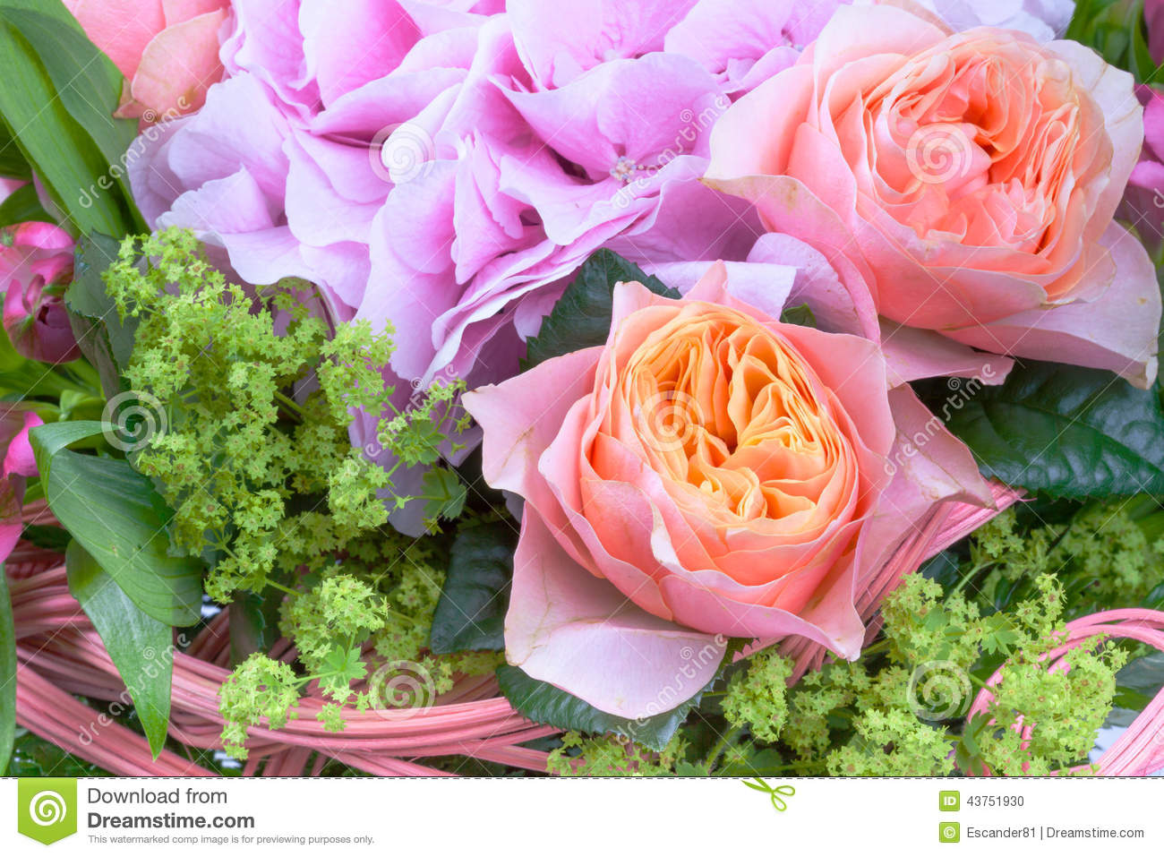 Amazing Flower Bouquet With Roses Stock Photo Image Of Gift