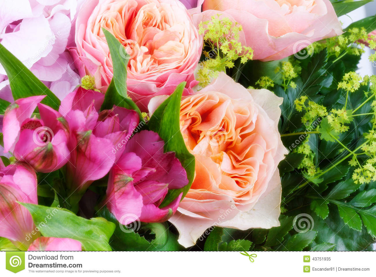 Amazing Flower Bouquet With Roses Stock Image Image Of Beautiful