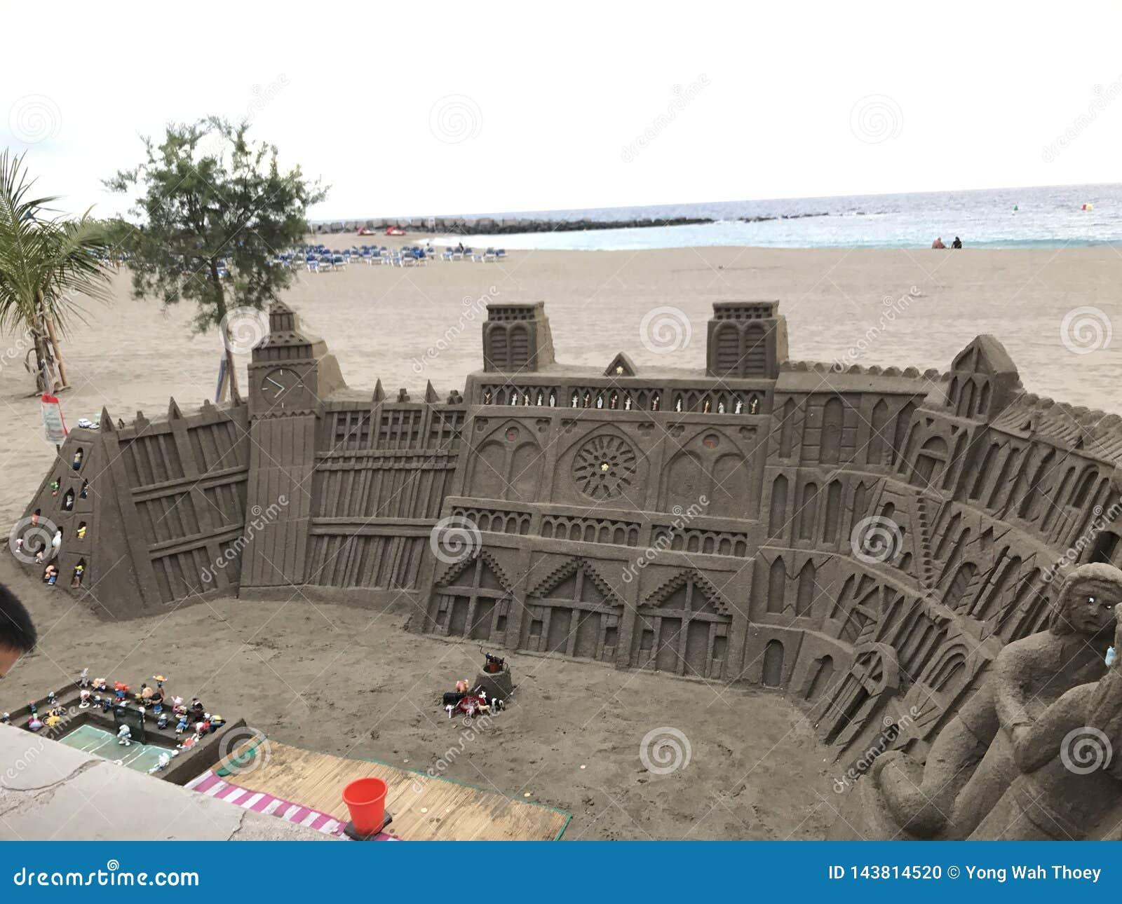 Amazing huge sand castle Tenerife