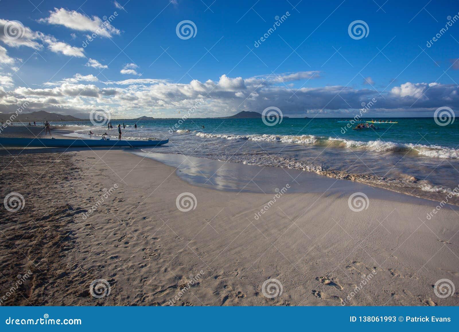 Amazing Kailua Beach Park Oahu Hawaii Stock Image Image Of