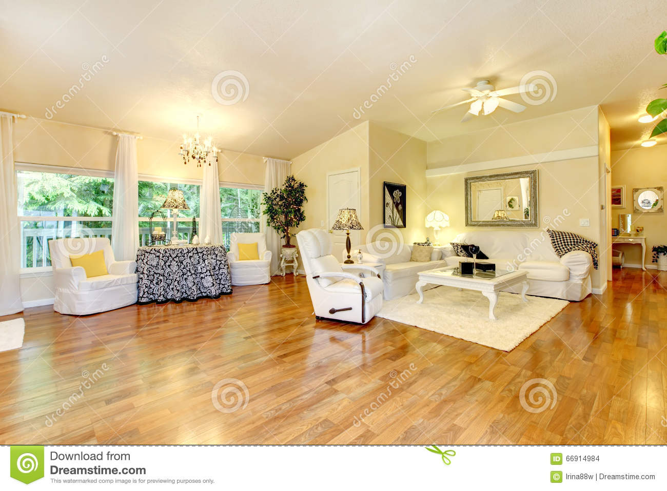 Amazing living room with white furniture and hard wood - White wooden living room furniture ...