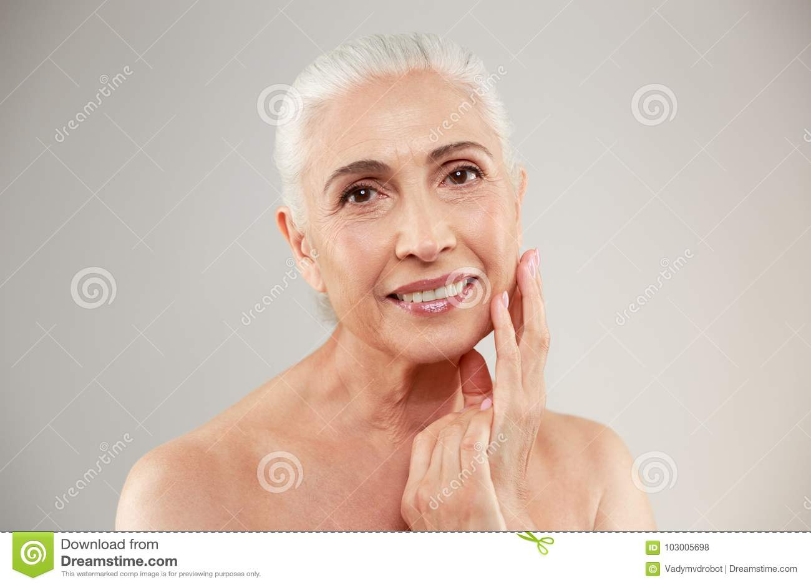 Naked elderly