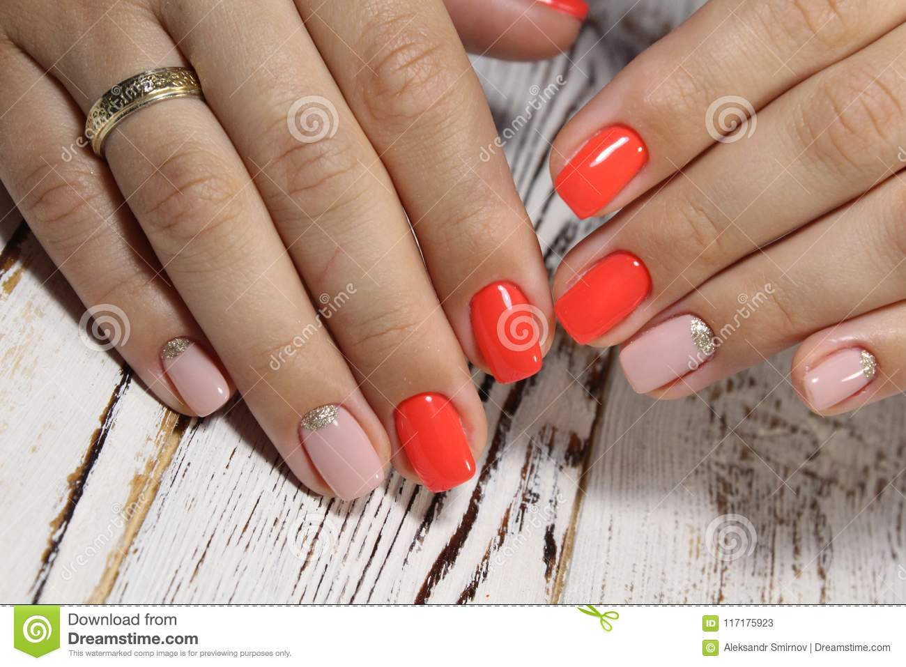 Amazing Natural Nails Stock Image Image Of Nail Design 117175923