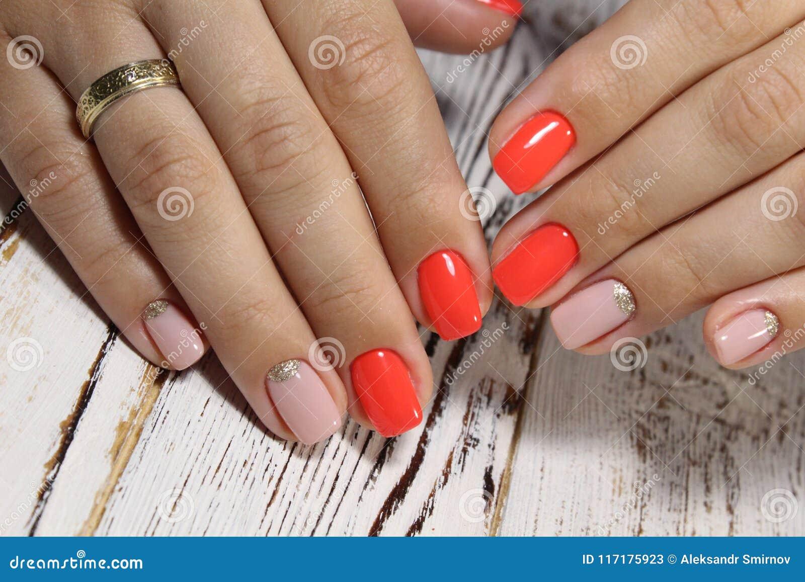 Amazing natural nails. stock image. Image of nail, design - 117175923