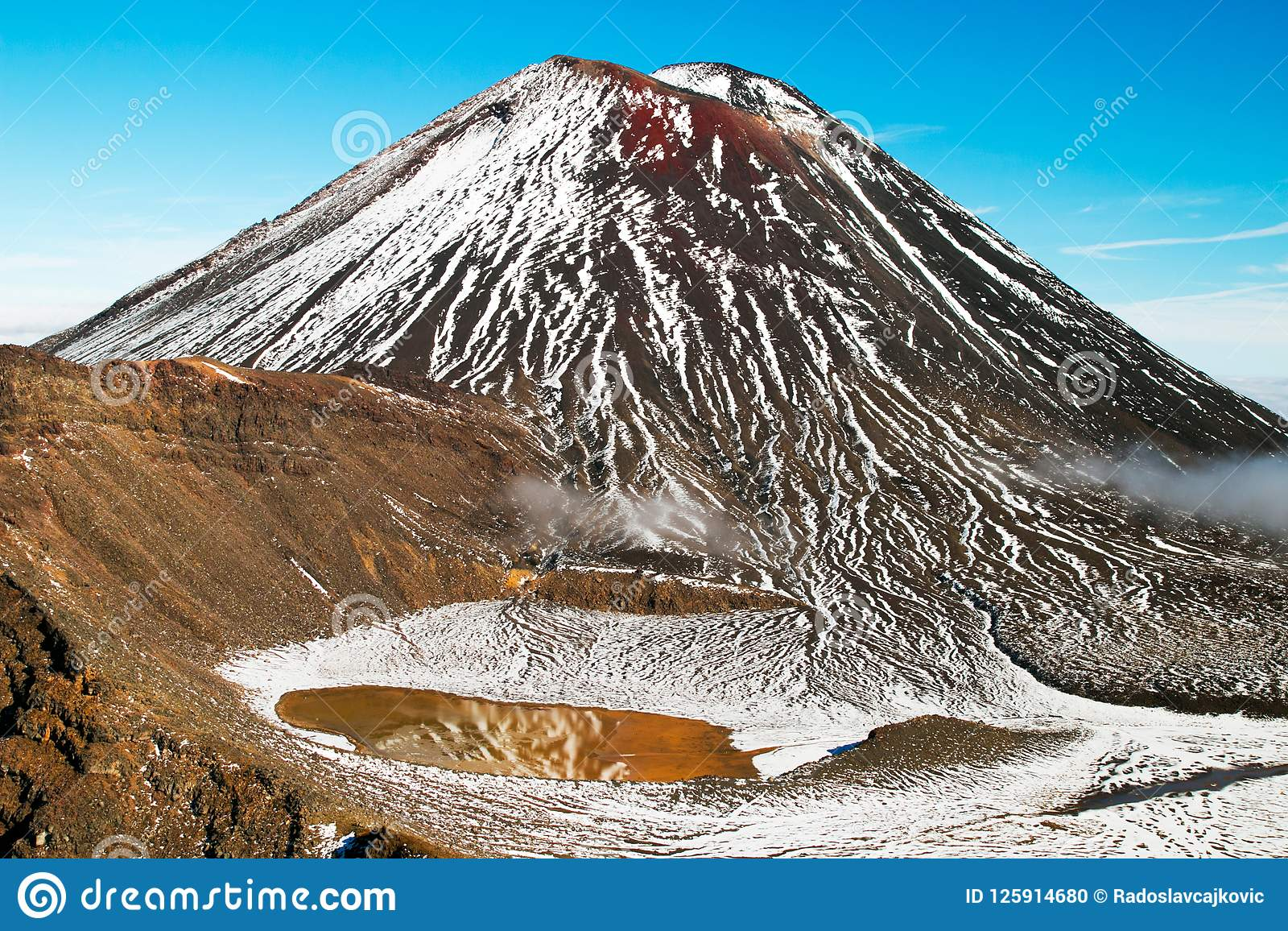 reflection about volcano