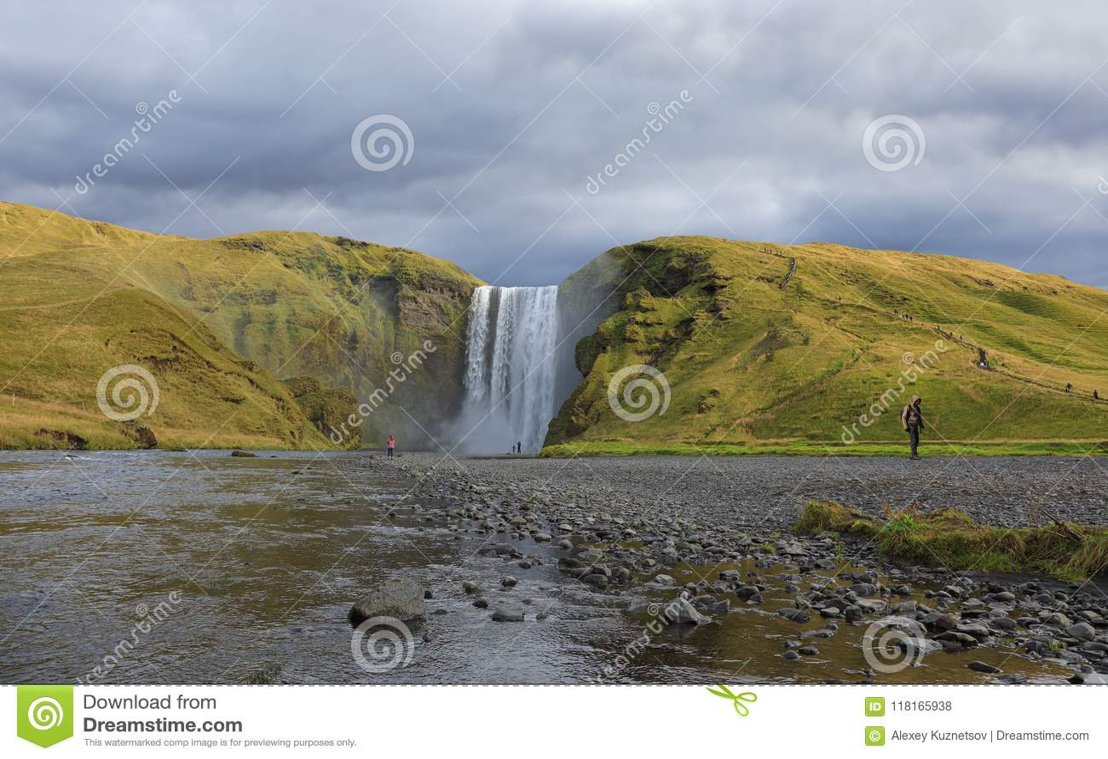 Amazing Skogafoss waterfall in Iceland