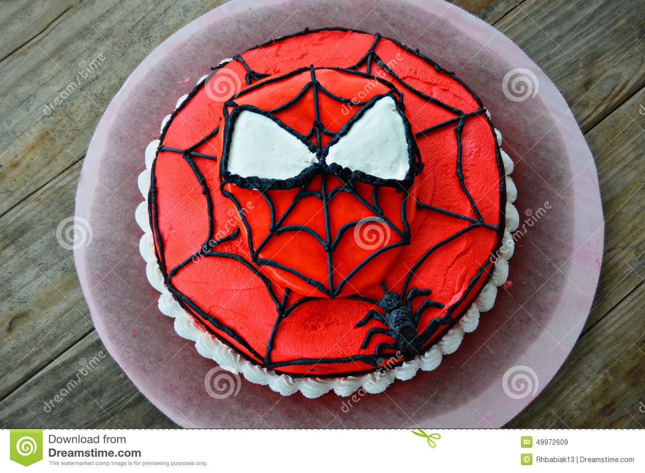 Amazing Spiderman Decorated Cake Editorial Stock Image