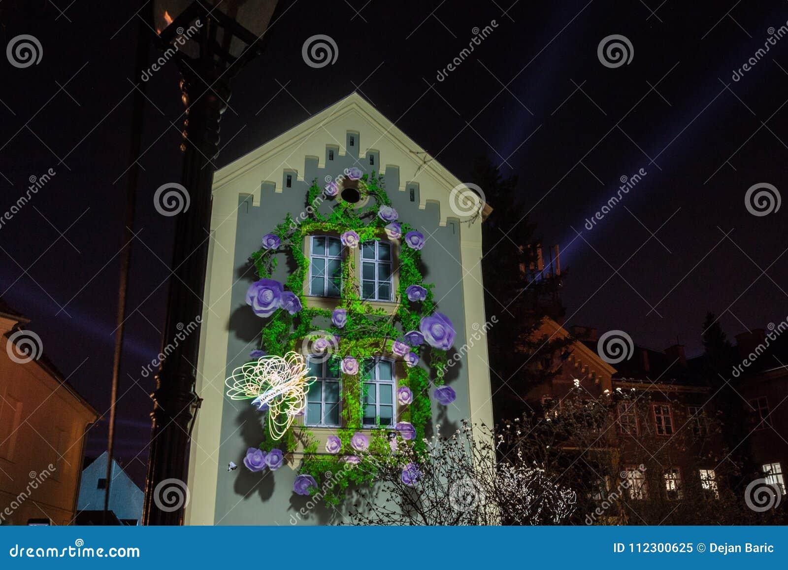 16th mart 2018. Zagreb, Croatia – Festival of light in Zagreb