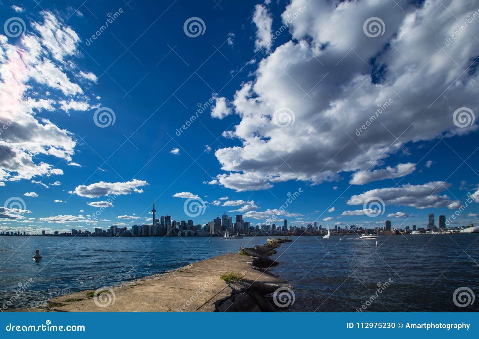 Amazing summer view of City of Toronto Ontario Canada