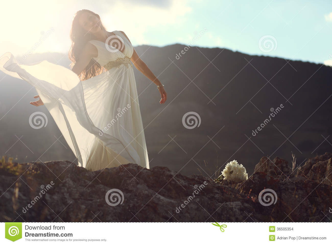 See sun shining through dress - Amazing Sun Light Shining Over Beautiful Woman Stock Images Image 36505354