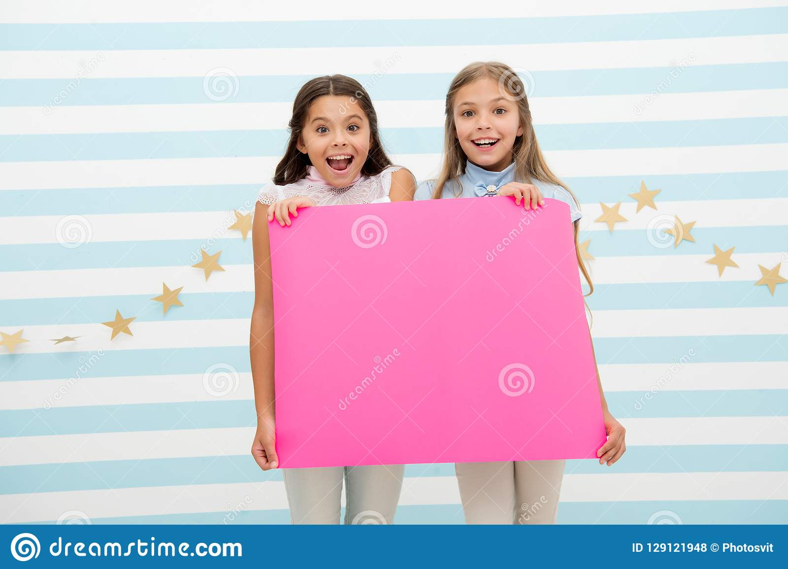 The Surprising News About Childrens >> Amazing Surprising News Girl Hold Announcement Banner Girls Kids