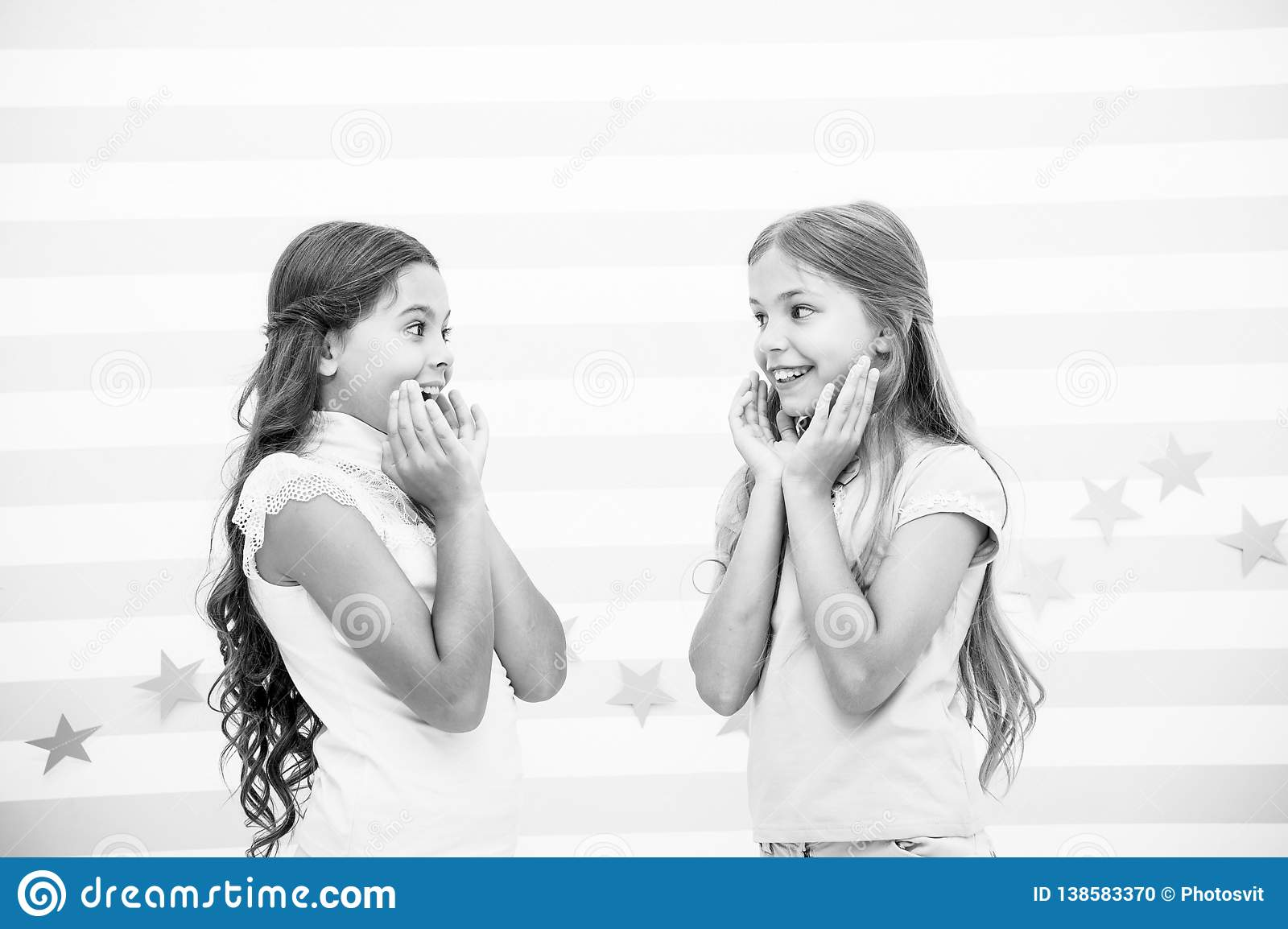 The Surprising News About Childrens >> Amazing Surprising News Girls Excited Expression Girls Kids Just
