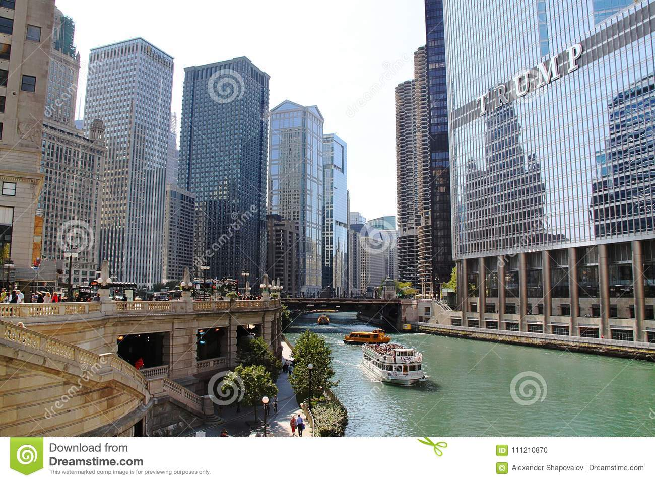 Amazing view of Chicago skyline. Towers in Chicago, IL, USA. 09.19.2014