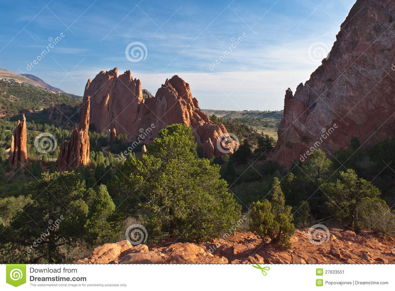 Amazing View Of Garden Of The Gods Stock Image Image 27633551