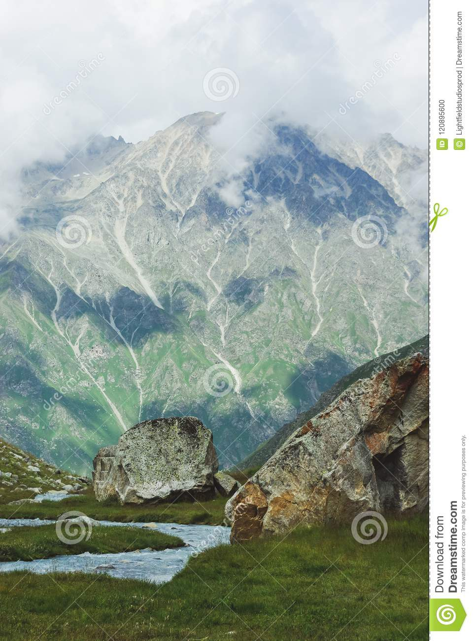 amazing view of mountains landscape, Russian Federation, Caucasus,