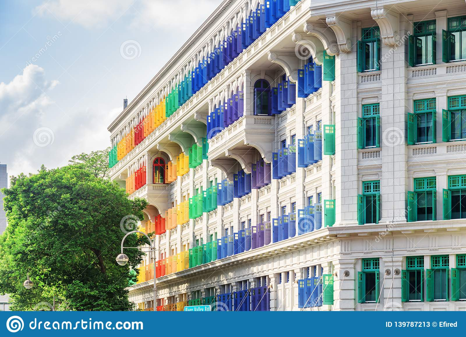 Amazing view of the Old Hill Street Police Station, Singapore