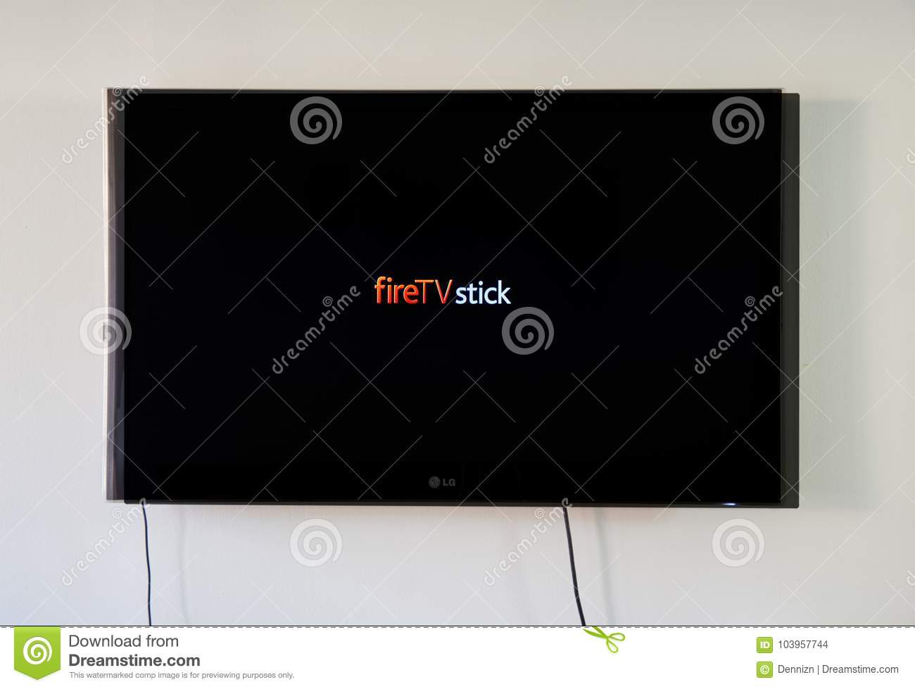 Amazon Fire TV Stick On LG TV Editorial Stock Image - Image