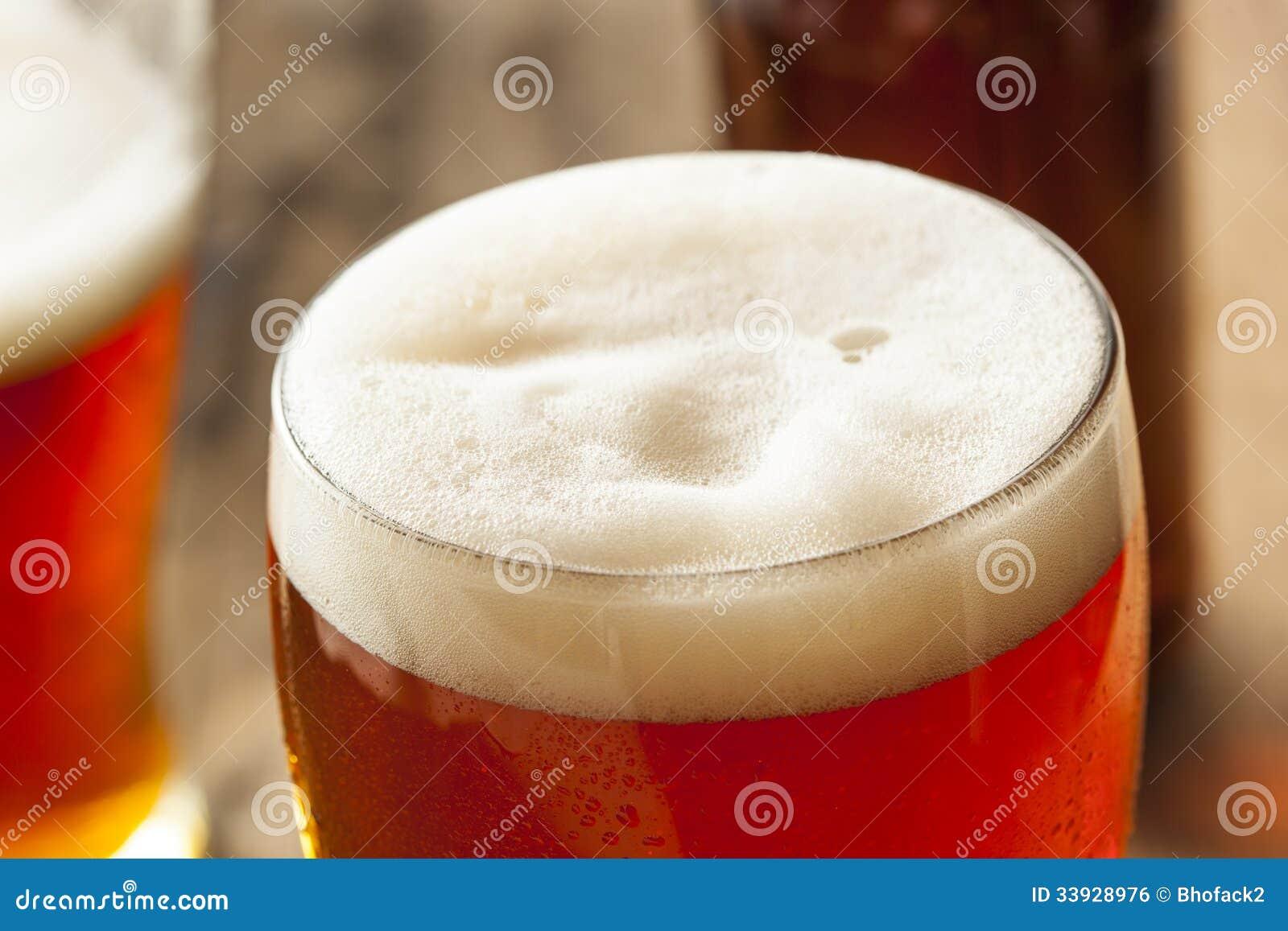 Amber Beer oscura de restauración fresca